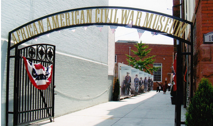 The Archway leading to the entrance of the AFRICAN AMERICAN CIVIL WAR MUSEUM in Washington, D.C.